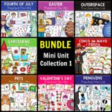 BUNDLE Math & Literacy Mini Unit Collection 1