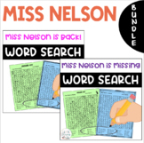 BUNDLE - Word Searches - Miss Nelson is Missing & Miss Nel