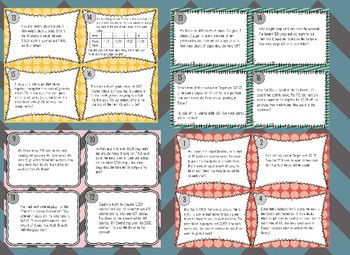 BUNDLE! Mixed Operations Single & Multi-Step Word Problems Task Cards 70 cards