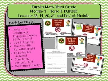 BUNDLE Module 1 Topic F Eureka Math 3rd Grade SmartBoard Lessons 18-21