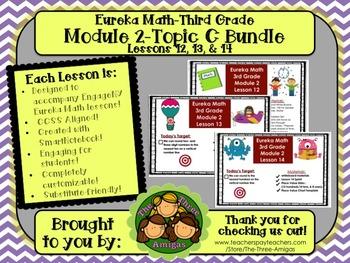 BUNDLE Module 2 Topic C Eureka Math 3rd Grade SmartBoard Lessons 12, 13, & 14
