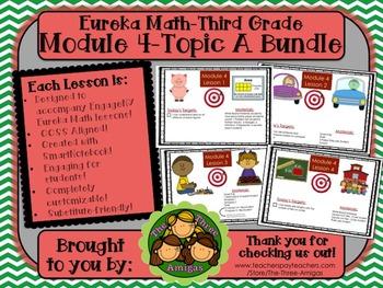 BUNDLE Module 4 Topic A Eureka Math 3rd Grade SmartBoard Lessons 1-4