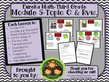 BUNDLE Module 5 Topic C Eureka Math 3rd Grade SmartBoard L