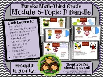BUNDLE Module 5 Topic D Eureka Math 3rd Grade SmartBoard Lessons 14-19