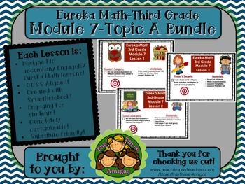 BUNDLE Module 7 Topic A Eureka Math 3rd Grade SmartBoard Lessons 1-3