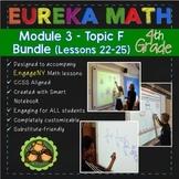 BUNDLE Module 3 Topic F Eureka Math 4th Grade Smartboard L