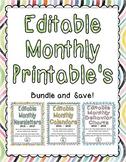 BUNDLE: Monthly Behavior Sheets, Calendars, & Newsletters