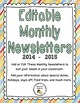 BUNDLE: Monthly Behavior Sheets, Calendars, & Newsletters