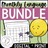 BUNDLE Monthly Language Activities for Speech Therapy Digi