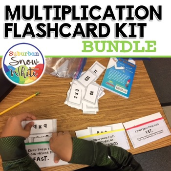 Multiplication Flashcards for Growth Mindset 0-10 and 0-12 {BUNDLE}