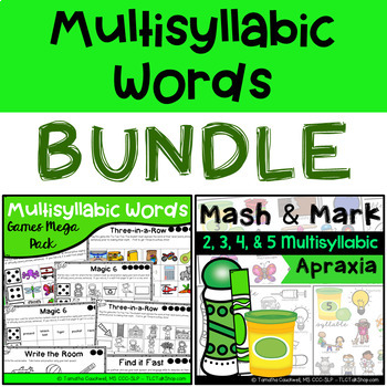 BUNDLE: Multisyllabic Words Set