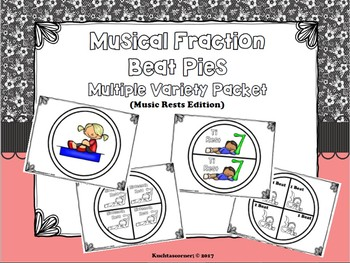 BUNDLE - Musical Fraction Beat Circles: Notes AND Rests BUNDLE - PDF Edition