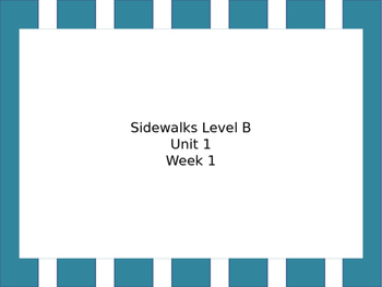 BUNDLE My Sidewalks Level B:  Words for Lessons