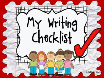 BUNDLE-My Writing Checklist Posters/Rubric (10 Different Backgrounds) Zip File