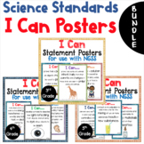 BUNDLE - NGSS I Can Statement Posters - Color & Black/Whit