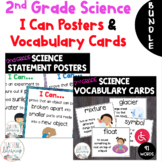 Science I Can Posters and Vocabulary Word Wall BUNDLE Grade 2: Use with NGSS