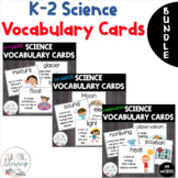 Science Vocabulary Word Wall BUNDLE K, 1, 2: Use with NGSS