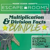 BUNDLE NO-PREP Math Escape Rooms - Multiplication & Division Fact Families 1-10
