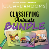 BUNDLE NO-PREP STEM Escape Rooms - Animal Classifications STEM Escape Bundle
