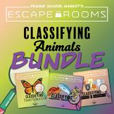 BUNDLE No-Prep STEM Escape Rooms - Animal Classifications - Science Bundle