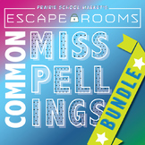 BUNDLE NO PREP Spelling Escape Room - Commonly Misspelled Words 3rd 4th 5th