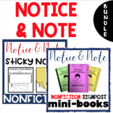 Notice and Note NONFICTION Signposts Sticky Notes and Mini Books