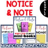 BUNDLE - NONFICTION Notice & Note Mini-Books, Sticky Notes, & Graphic Organizers