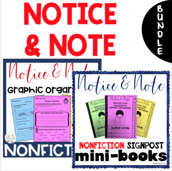 BUNDLE - NONFICTION Notice & Note Interactive Mini-Books & Graphic Organizers