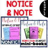 BUNDLE - NONFICTION Notice & Note Interactive Mini-Books &