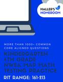 BUNDLE Kindergarten-4th Grade NWEA MAP Practice Questions [RIT 160-213]