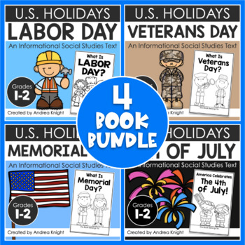 BUNDLE: National Holidays Book Set (U.S.)