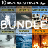 BUNDLE Natural Disaster 10 Paired Passages with Text Based Evidence Questions