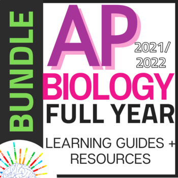 BUNDLE New 2019 AP Biology Curriculum- Review Guides for Each Unit