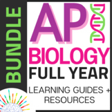 BUNDLE New AP Biology 2019 Curriculum- Review Guides for Each Unit