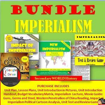 Imperialism BUNDLE (Secondary World History) (Common-Core Aligned!)