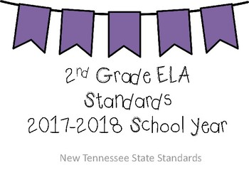 BUNDLE - New Tennessee Math and ELA Standards for 2nd Grade