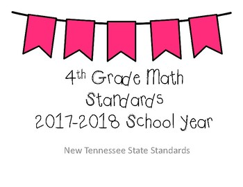 BUNDLE - New Tennessee Math and ELA Standards for 4th Grade