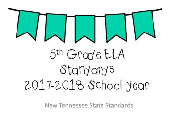 BUNDLE - New Tennessee Math and ELA Standards for 5th Grade