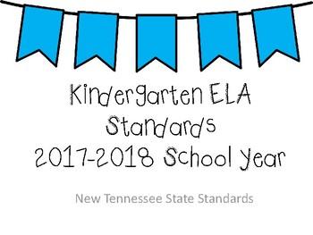 BUNDLE - New Tennessee Math and ELA Standards for Kindergarten