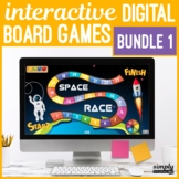 DISCOUNT BUNDLE No Print Editable PowerPoint Board Games for Speech Teletherapy