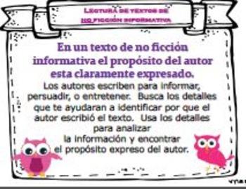 BUNDLE Nonfiction English & Spanish Posters & Organizers