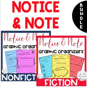 BUNDLE - Notice & Note FICTION & NONFICTION Signpost Graphic Organizers {CCSS}