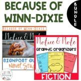 BUNDLE - Because of Winn-Dixie - Notice & Note Graphic Organizers + Novel Study