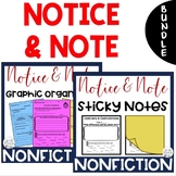BUNDLE-Notice & Note NONFICTION Signpost Graphic Organizer