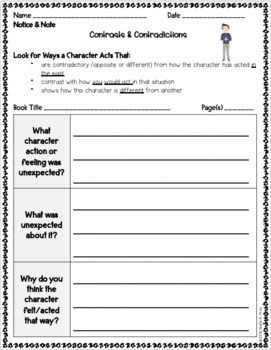 BUNDLE - Notice & Note Signpost Graphic Organizers and Sticky Note Templates
