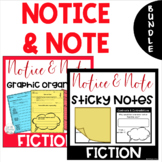 BUNDLE - Notice & Note Signpost Graphic Organizers and Sti