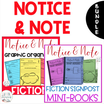 Notice and Note FICTION Signposts Graphic Organizers and Mini Books