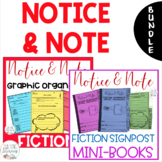 Notice and Note FICTION Signposts Graphic Organizers and M