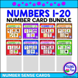 BUNDLE Number Cards 1-20 with Ten Frames and Tally Marks