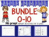 *BUNDLE* Number Knowledge: Numbers 0-10 (NO PREP!)